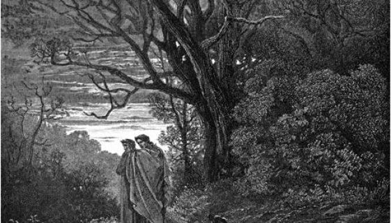Dante e Virgilio iniziano il viaggio (G. Doré)